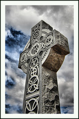 Celtic Cross St James Parish in Dogtown (Bettina Woolbright) Tags: sky statue religious catholic cross religion christian celtic dogtown celticcross bettina woolbright bettinawoolbright woolbr8stl bettinawoolbrightcom