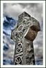 Celtic Cross St James Parish in Dogtown (Bettina Woolbright) Tags: sky statue religious catholic cross religion christian celtic dogtown celticcross bettina woolbright bettinawoolbright woolbr8stl bettinawoolbrightcom