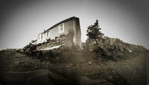 Pinhole panorama at Portencross 19Mar09