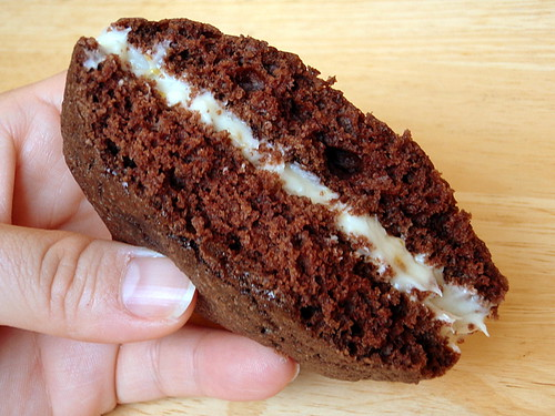 Inside of a whoopie pie
