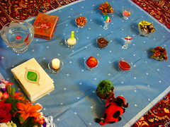NOWRUZ (Azadeh Alizadeh) Tags: new happy spring year persia newyear sin iranian sir haftsin sib 7sin nowruz  sabze haft samanoo senjed serke sekke