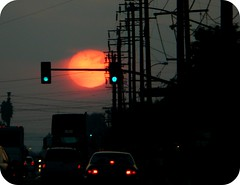 AMAZINGGGGGGGGGGGG (OrangeCounty_Girl) Tags: life california usa sun sol america grande flickr driving traffic sundown kodak streetlights socal wires greenlight southerncalifornia orangecounty oc gigantic telephonepoles westcoast stanton 714 pansonic bigsun hnc hugesun katellaave orangecountygirl hollyclark 79714 biggestsunsetiveeverseen hollyclark714 hnc714 holly714