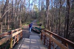 The bridge at the Cedar Creek access point