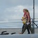 Juliet boarding the USS Bowfin (zoomed in) por vaudesir