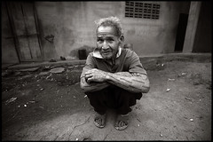 The man from Thathon (fly) Tags: bw house man thailand asia village karen hilltribe ixtlan earthasia