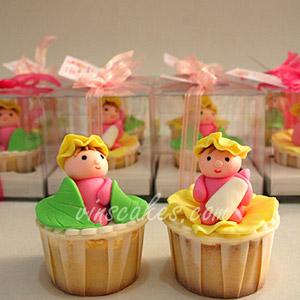 3D Baby Girl Cupcake