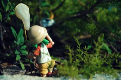 Twitter 365 - Ft Yotsuba [084] (KayVee.INC) Tags: sf sanfrancisco california ca cute net forest garden toy japanese bokeh manga kawaii figure catch figurine 2009 hunt kaiyodo tokidoki yotsuba danbo 可愛い cavey twitter march09 revoltech moofia kayvee よつば twitter365 danboard kayveeinc revoltechyotsuba 250309