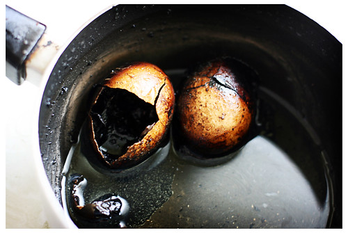 Eggs slightly overcooked