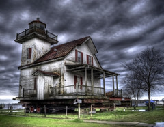Brokeback lighthouse (tearapen73) Tags: lighthouse obsession crush edenton photomatix onwheels roanokeriverlighthouse edentonnorthcarolina thecloudsweremovingreallyfast thatswhytheylooksoodd