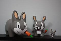Bugs Family (WuzOne) Tags: kidrobot custom kozik dunny labbit munny artoys bugsbuny wuzone