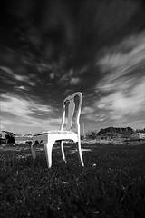 ... (Francesco Saverio Fienga) Tags: sea sky bw clouds canon chair nuvole mare bn cielo napoli sedia capomiseno photographia blackwhitephotos justclouds 5dmarkii francescosaveriofienga