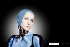 Andromeda alpha v 0.738.24 (edouardv66) Tags: portrait woman color girl face photoshop studio switzerland robot model nikon suisse geneva flash 85mm editing cyborg nikkor electronic genève android futuristic automat futur robotic futurist strobist d700