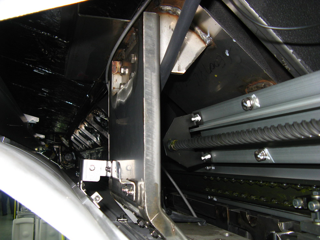 Inside the train door mechanism