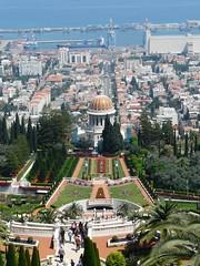 In den Bahai-Gärten Bahai Gardens, Haifa
