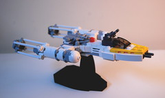 Lego mini Y-Wing Fighter (Centuri) Tags: starwars lego custom moc starfighter ywing