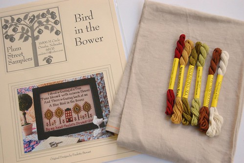 "Plum Street Samplers ""Bird in the Bower"""
