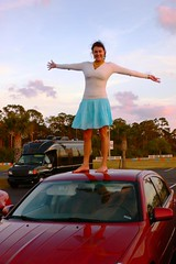 girl on car (footfreak101) Tags: girls cars feet fetish walking high jumping women top bare arches crushing barefoot heels females stomping trample trampling destroying denting