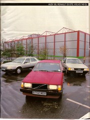 Low Cost Luxury Saloons Test Renault 25, Volvo 740 & Audi 100 1985 2 (Trigger's Retro Road Tests!) Tags: low cost luxury saloons group test renault 25 gts volvo 740 gl audi 100 what car magazine 1985