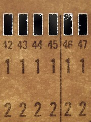 Memory.. (Sea Moon) Tags: vintage computer card numbers perforated punchcard