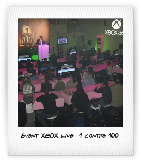 Event XBOX Live : 1 contre 100