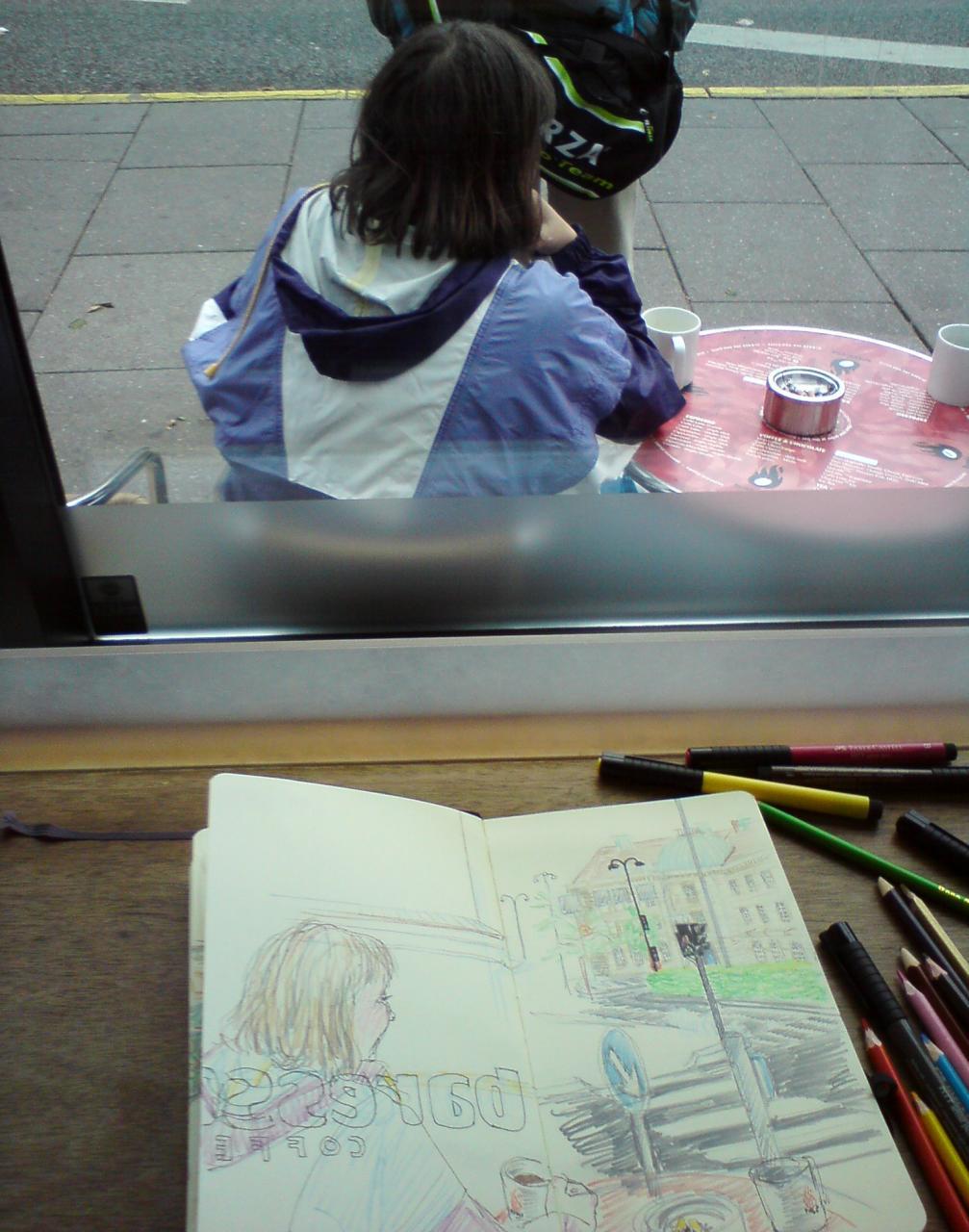 sketching inside