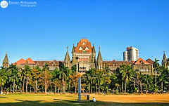 Bombay High Court,Mumbai - India ( Rizwan Mithawala) Tags: trees light india fountain grass architecture photography drive town marine photographer fort flag indian ground palm cricket pay bombay mumbai tricolour oval maidan mumbaiuniversity florafountain southmumbai churchgate rizwan bombayhighcourt favoritearchitecture rizwanmithawala mithawala