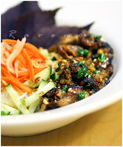 bun thit nuong, vermicelli,vietnamese grilled pork