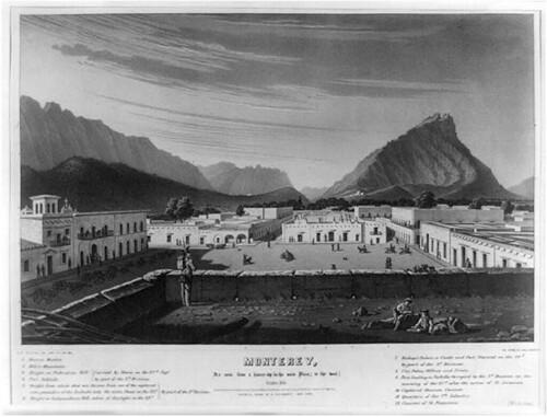 Plaza Zaragoza, Monterrey G. & W. Endicott 1846