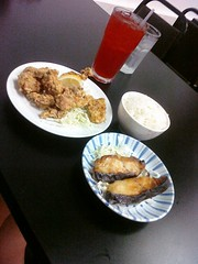 Miso butterfish and chicken karage at Domo in Kaneohe