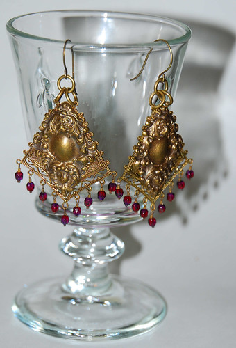 Earrings by Amy Kozak