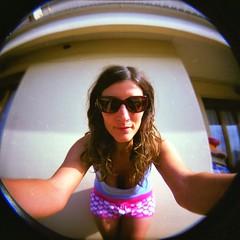 summer portrait selfportrait 6x6 film sunglasses video holga lomo lomography estate toycamera fisheye musica noedit autoritratto nophotoshop 120mm ♥ analogic holga120cfn pellicola analogico occhialidasole kinzica sedaka