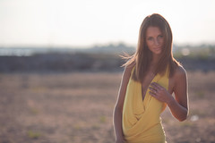 Anastasia (Geshpanets) Tags: sunset portrait sun girl beauty dress 5d anastasia 135mm 13520 6mtjune