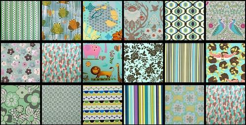 blue fabrics