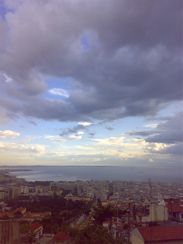 Thessaloniki bay from Yedi Kule citadel