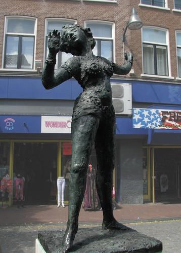 Oriental dancer Mata Hari's Statue in Leeuwarden