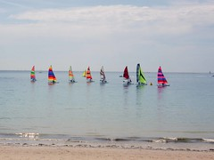 Sailing Hobie Cats at St Aubins