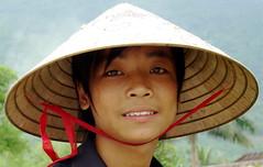 Portrait of a Vietnamese Man (Grace's clicks) Tags: travel portrait man vietnamese bamboo conicalhat earthasia