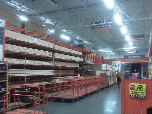 Home Depot lumber