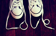 I Love Converse ({peace&love}) Tags: wood white black cute love shoes purple floor o text v e converse l written laces pinkparis1233