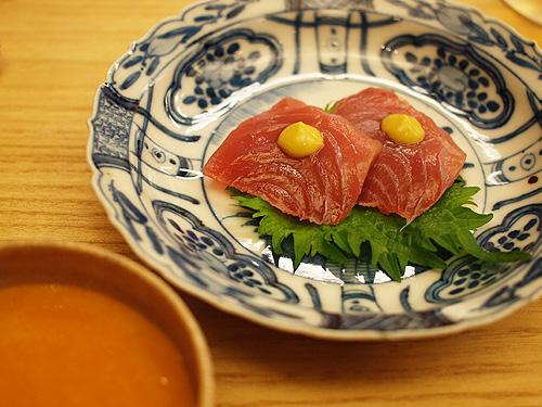 Roan-Kikunoi- tuna sashimi