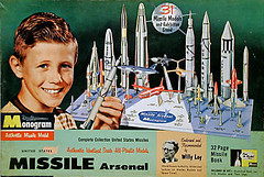 Monogram Missle Arsenal (x-ray delta one) Tags: america vintage ads advertising poster media russia propaganda aircraft nazis hitler ad sac nuclear nostalgia 1950s ww2 americana civildefense capitalism bigbrother atomic populuxe nato leningrad stalin coldwar worldwar2 aerospace atomicbomb ussr worldwar1 icbm airtoair strategicaircommand communisim departmentofenergy ww3 worldwar3 greatpatrioticwar atomicwar atomicpower warsawpact hydrogenbomb b48 thermonuclearwar kiloton willeyley nucleardeterent b48tornado atomicannihilation