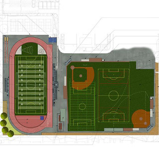 The tentative plans for the outlay of Measure B funds include new upper and lower field as well as a new track. Construction is set to start the day after graduation this school year. Photo courtesy of the FUHSD