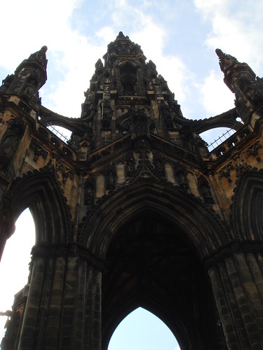 Standing Under the Scott Monument