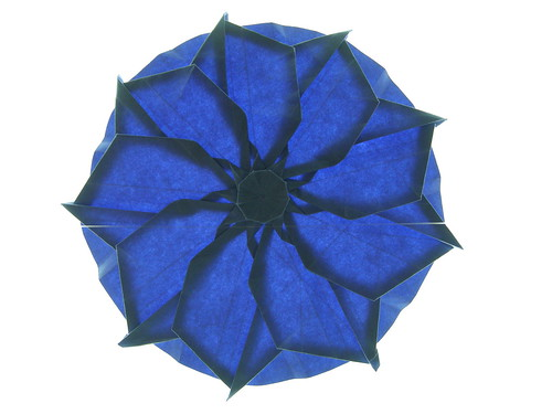 9-sided  rosette in blue