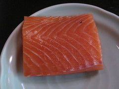 My chunk of salmon