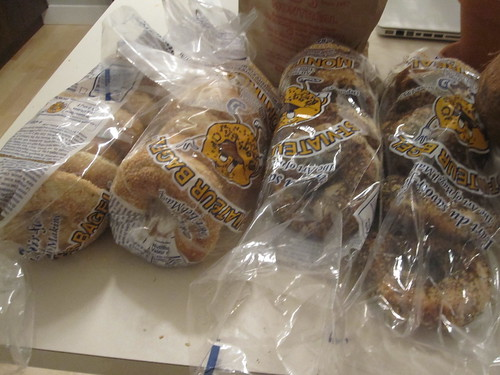 LOTS of bagels for myself and for a Flickr friend I'm meeting in San Francisco next week - $20.26