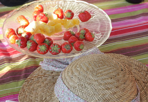 Strawberries and hat