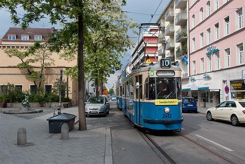 Bald wird das »Norkauer«-Gebäude abgerissen, Grund genug für eine Aufnahme in der Augustenstraße