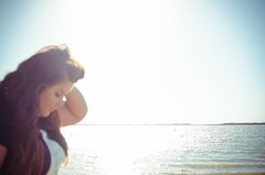 Natalie || Basking in the Sun (JessicaHume.) Tags: portrait woman lake spring texas tx unfocused blownout rayrobertsstatepark
