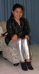 Sitting Pretty (johnerly03) Tags: fashion asian shiny boots coat philippines filipina lycra pvc erly
